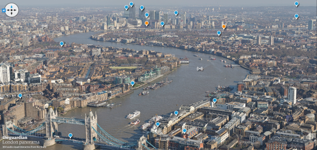 The view from the top of the Shard  London panorama of sights and sounds – interactive